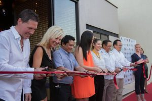 The ribbon cutting ceremony at District Eat + Drink restaurant in San Jose del Cabo, June 30, 2016.