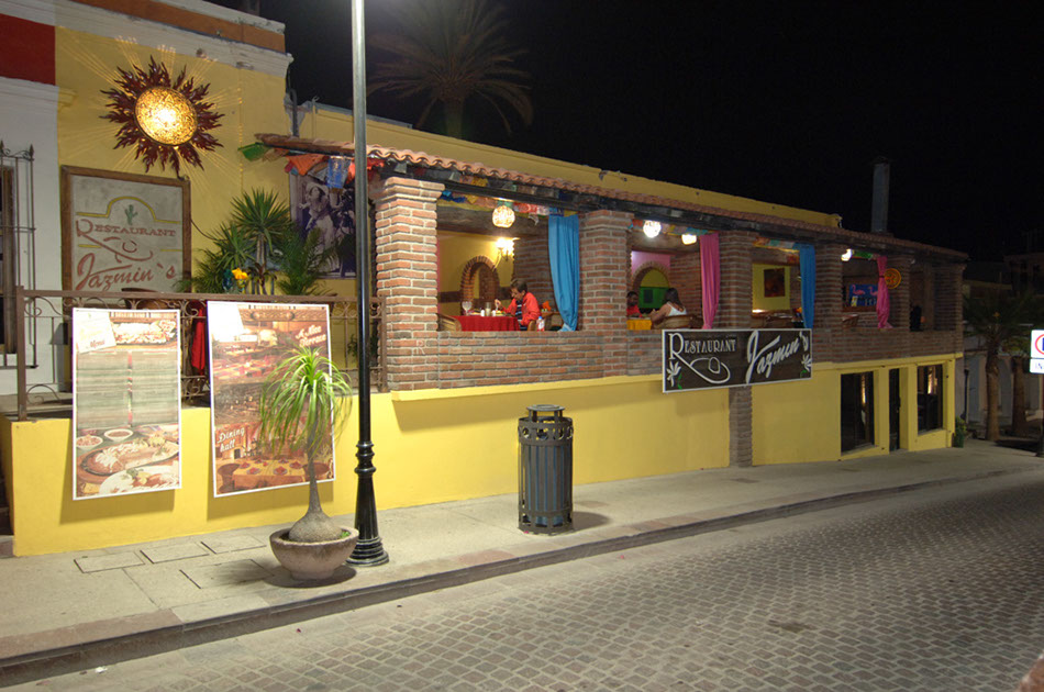 The exterior of Jazmin's Restaurant in downtown San Jose del Cabo.