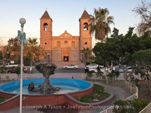 Catedral de Nuestra Señora de La Paz. Cathedral of Our Lady of La Paz. This catholic church is the site of the old Jesuit Mission in La Paz.