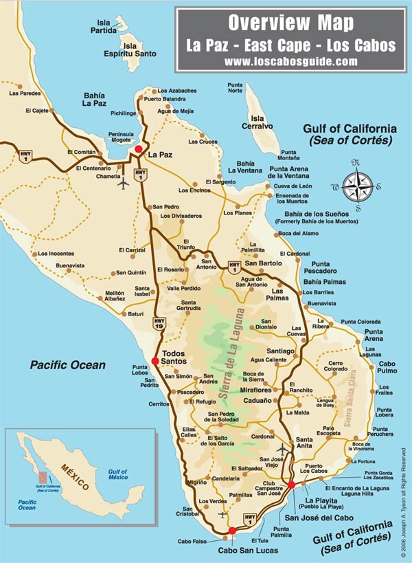 cabo san lucas mexico map